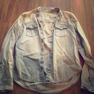 A&F Denim Button Up Size Small